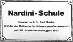 Nardini-Schule Schild